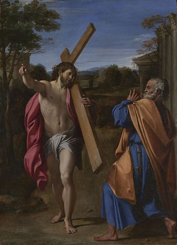 Von Annibale Carracci - http://www.nationalgallery.org.uk/paintings/annibale-carracci-christ-appearing-to-saint-peter-on-the-appian-way National Gallery, London, Gemeinfrei, https://commons.wikimedia.org/w/index.php?curid=326162