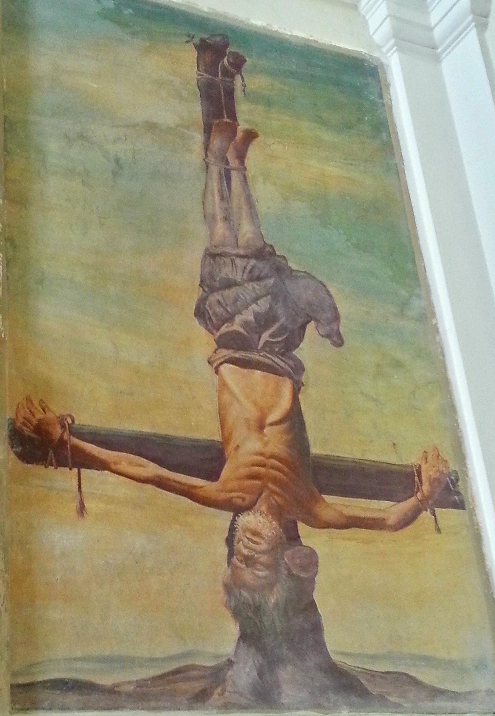 Petrus - kopfüber gekreuzigt - aus Santa Maria in palmis